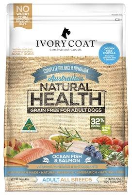 IVORY COAT Grain Free Dry Dog Food Ocean Fish Salmon 2kg