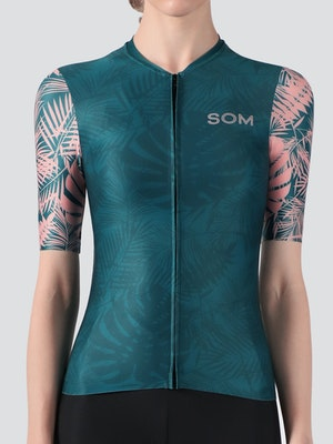 Soomom Women's Jungle Flower Cycling Jersey