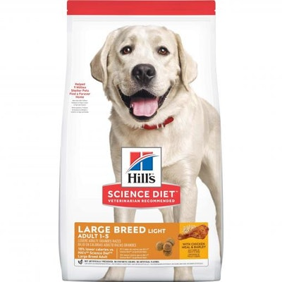 Hills Hill's Science Diet Large Breed Light Adult Chicken Dry Dog Food 12kg