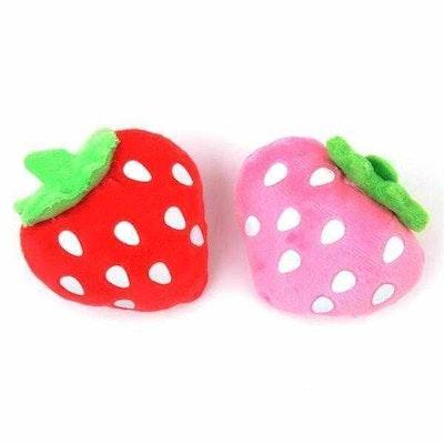 DoggyTopia Strawberry Squeaker Dog Toy