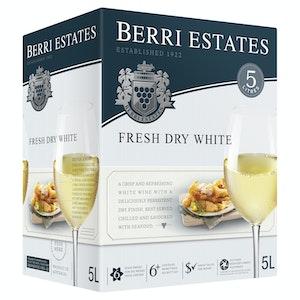 Berri Estates Fresh Dry White Cask 5L