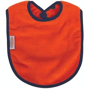 Silly Billyz Orange Fleece Large Bib