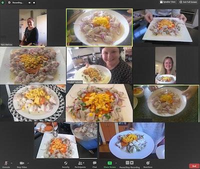 Online Peruvian Cooking Classes - Menu Marino