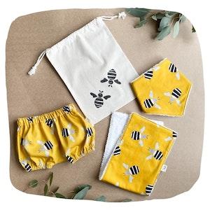 Bee Bloomer Baby Bundle - Mustard