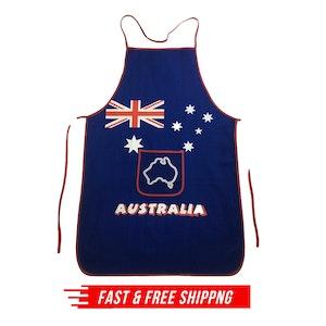 AUSTRALIA FLAG APRON Australia Day BBQ Aussie Party Costume Oven Chef Souvenir