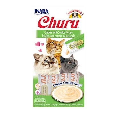 INABA Churu Creamy Cat Treat Chicken w/ Scallop Recipe 6 x 56g