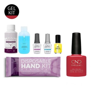 DIY Gel Manicure Kit + Red Gel Polish | Seven-Piece Salon Essential Nail Set