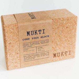 Upward Dog Mukti Cork Yoga Block