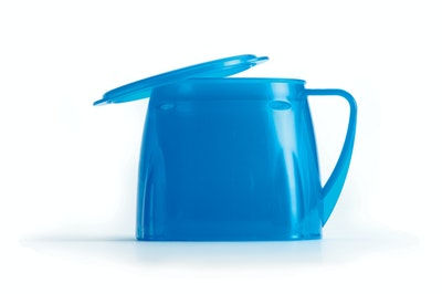Steadyco Lets Eat Cup & Lid Blue
