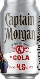 Captain Morgan Original Spiced Gold & Cola 4.5% Can 375mL