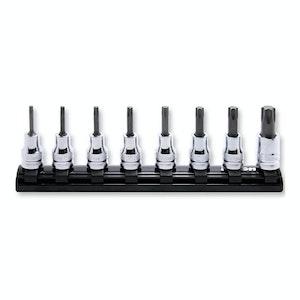 "Ko-Ken 3/8""dr Torx Socket 8pc Set Sizes T20 - T55  Length 50mm Z Series"
