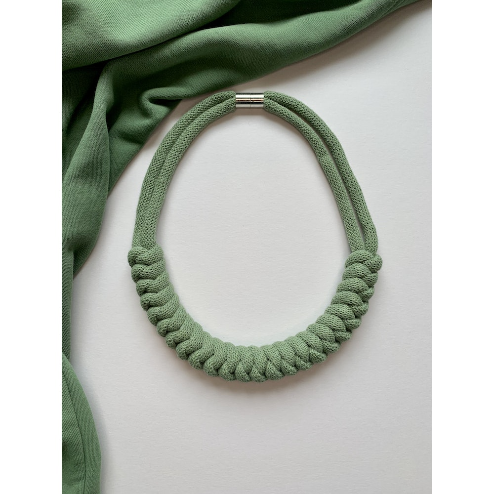 Form Norfolk Snake Knot Necklace In Sea Glass Green