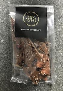 Milk Chocolate Bark, Roasted Hazelnuts, Cocoa Nibs, Blueberry