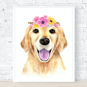 Lucy the Golden Retriever - Archival Print A4