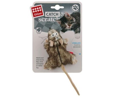 GIGWI Catch Scratch Mouse Catnip