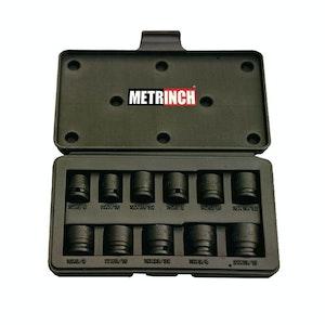 "Metrinch Impact Socket 11pc Set 3/8""dr 10mm - 21mm (3/8"" - 13/16"")"