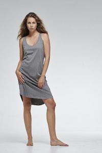 Global Sisters Shop Organic Cotton Singlet Dress - Charcoal