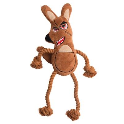 La Doggie Vita Killer Roo Plush Rope Toy With Squeaker