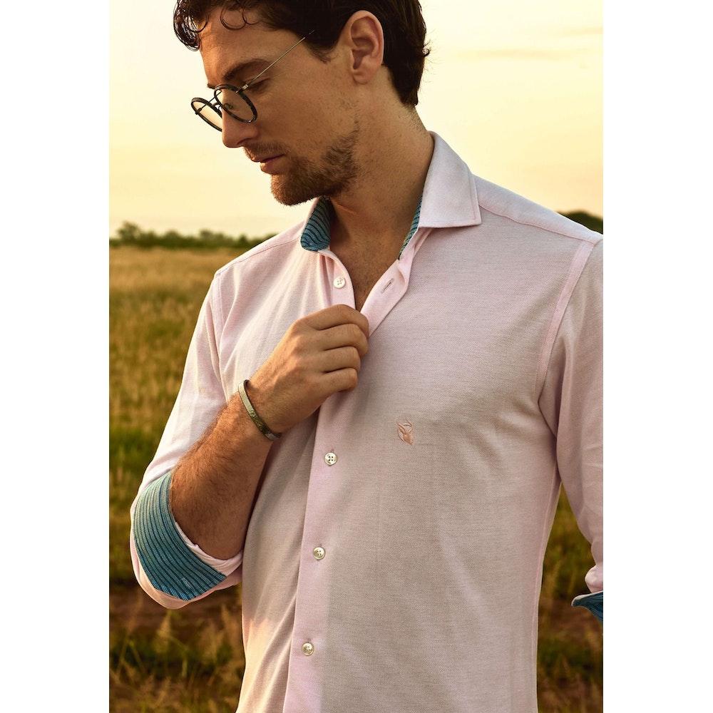 Koy Clothing Mawimbi Pink Pique Cotton Shirt