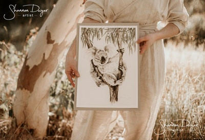 Naptime, koala Art Print