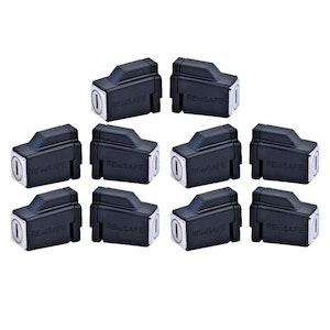 Remsafe 10 Pack Venlock Aluminium Sliding Window Restrictor Lock Keyed Alike in Black
