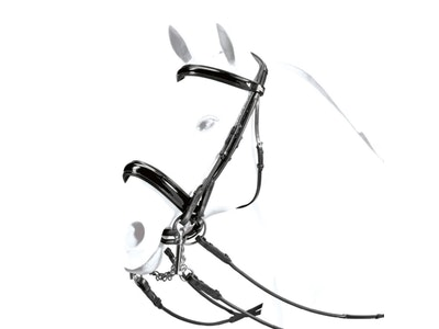 """Equipe """"King"""" Rolled Patent Weymouth Bridle"""
