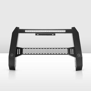 Steel Nudge Bar Grille Bumper Guard For Nissan Navara NP300 2015-2020 Black Matt