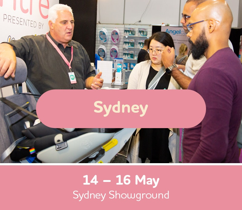 Text box with Sydney Expo dates, 14th, 15th and 16th of May, Sydney Showground