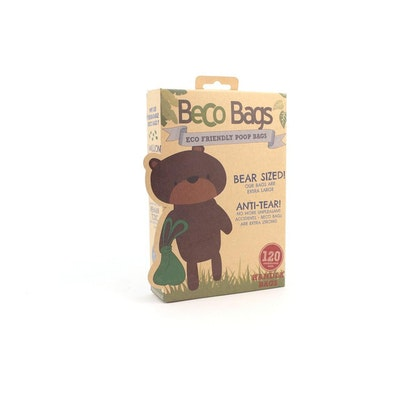 Beco Things Beco Bags Eco Friendly Poop Bags With Handles  120 pack