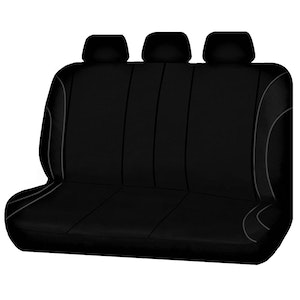 Universal Strident Rear Seat Covers Size 06/08S | Grey Piping