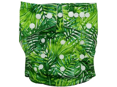 Hippybottomus Stay Dry Bamboo Cloth Nappy - Leaves