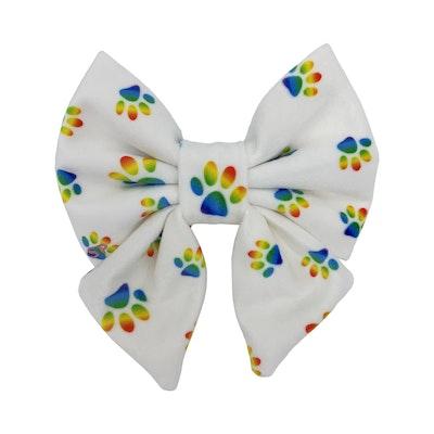 Swanky Paws Rainbow Paw Sailor Bow