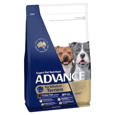 Advance Medium Terriers Ocean Fish with Rice Dry Dog Food
