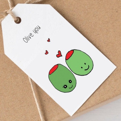 SOUL Self Care  Pleasant Tree Designer Gift Tags - OLIVE YOU 2021