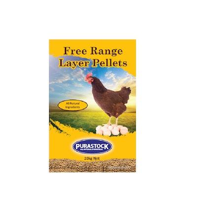 PURASTOCK Free Range Layer Natural Poultry Pellets 20kg
