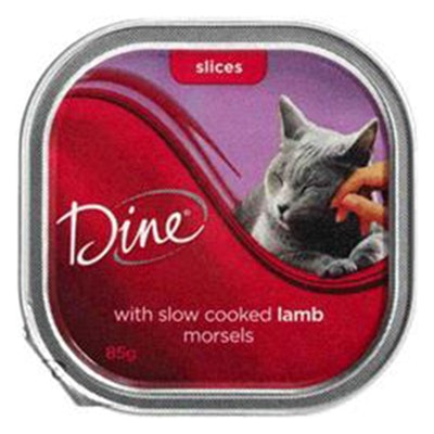 Dine Cat Food Morsels Slow Cooked Lamb 85g x 14