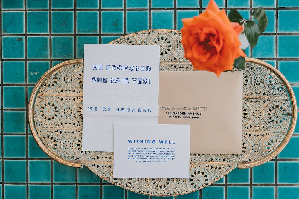 Tympan Ink Engagement Party Stationery