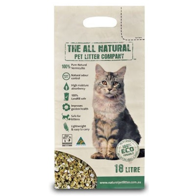 The All Natural All Natural Pet Cat Litter Vermiculite Lightweight Eco Friendly - 2 Sizes