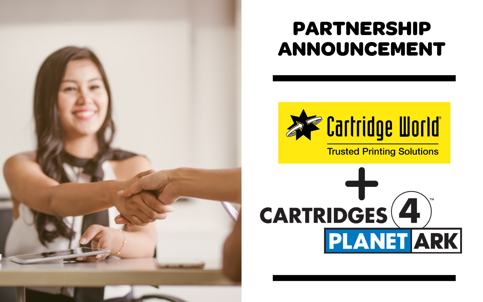 Cartridge World announces new partnership with Cartridges 4 Planet Ark