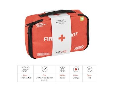 *Wholesale* Mediq Essential First-Aid Kit - Compact Motorist Soft Pack - 36 Units