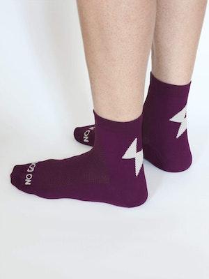No Gods No Masters Power-Up Summer Socks - Plum