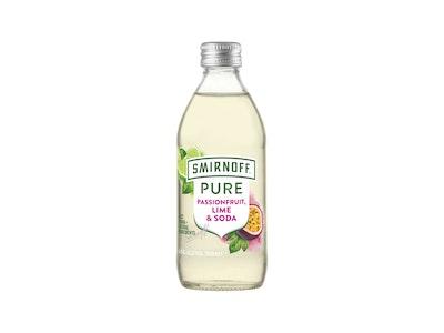 Smirnoff Pure Passionfruit Lime & Soda Bottle 300mL
