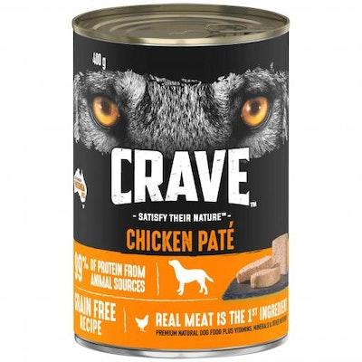 CRAVE Adult Chicken Pate Wet Dog Food 400G