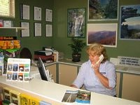 Manager Helen Marshall gets down to business at Lakeside Caravan Park