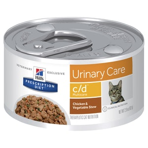 Hill's Prescription Diet Cat c/d Multicare Urinary Care Chicken & Veg Stew 24 x 82g