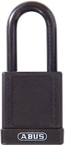 ABUS 74/40 Lock Out Tag Out (LOTO) lightweight aluminium padlock with black vinyl encased body keyed to differ