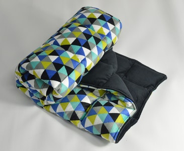 Weighted Single Bed Blanket - Heron with Midnight 5kg