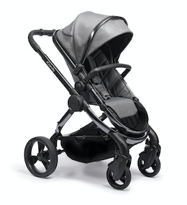 iCandy Peach Pram NEW 2020 - Contemporary Charcoal Grey twill weave with Phantom Frame