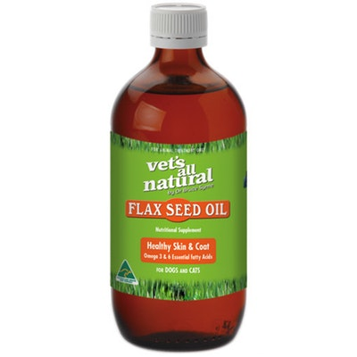 Vets All Natural Flax Seed Oil for Pet Dog Skin Irritation - 2 Sizes