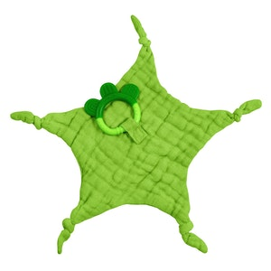 green sprouts Muslin Blankie Teether made from Organic Cotton-Green-3mo+